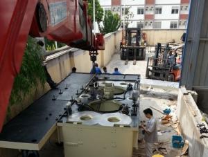 2200T油压机拼装
