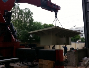 天津2200T油压机顶盖安装