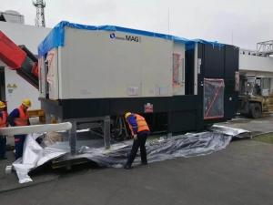 上海牧野机床MAG1开箱卸车定位